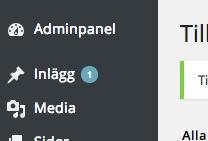 Pending indicator in admin menu