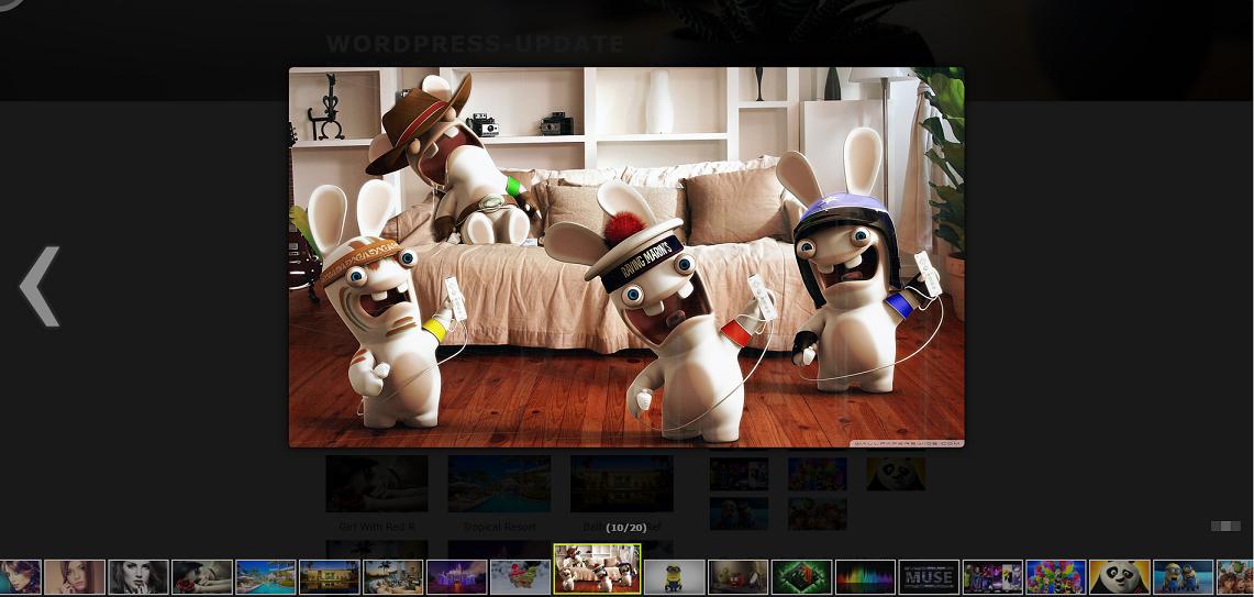 Album gallery image with Photobox layout