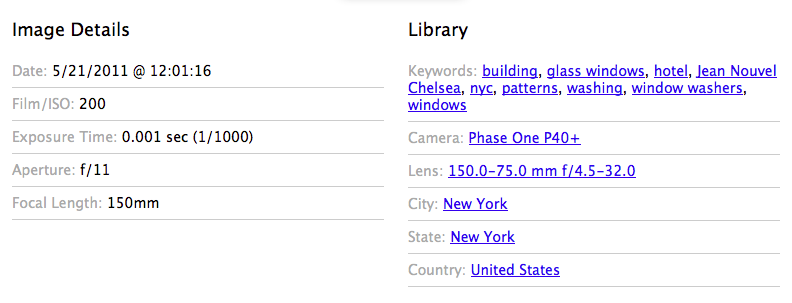 Single Image EXIF Widget and Taxonomy Widget.
