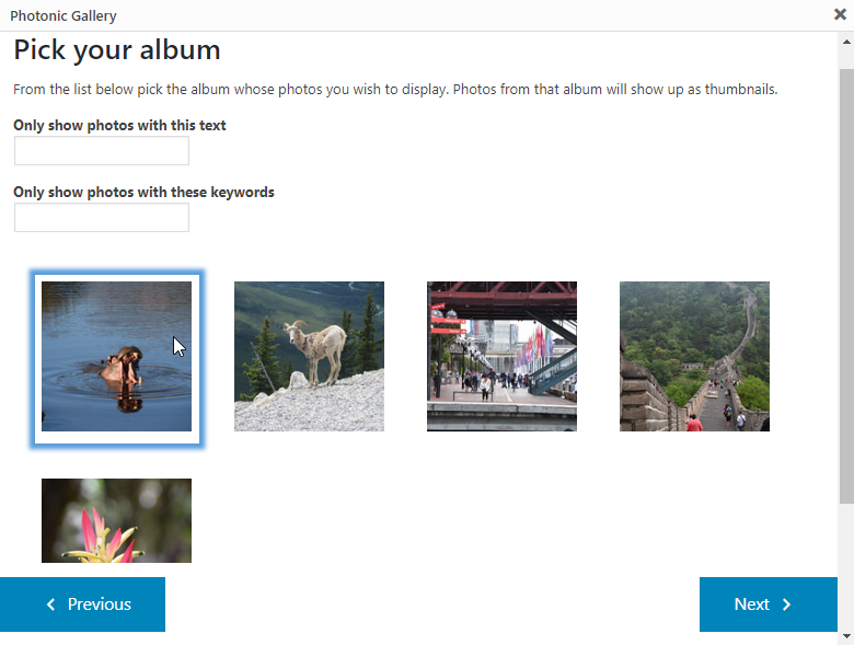 Photonic Gallery & Lightbox for Flickr, SmugMug, Google Photos