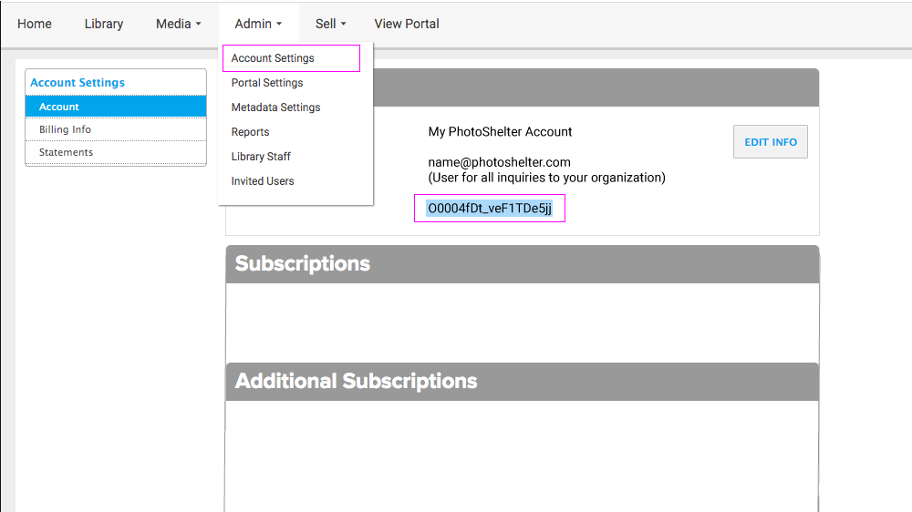Get your Organization ID from your account under Admin > Account Settings.