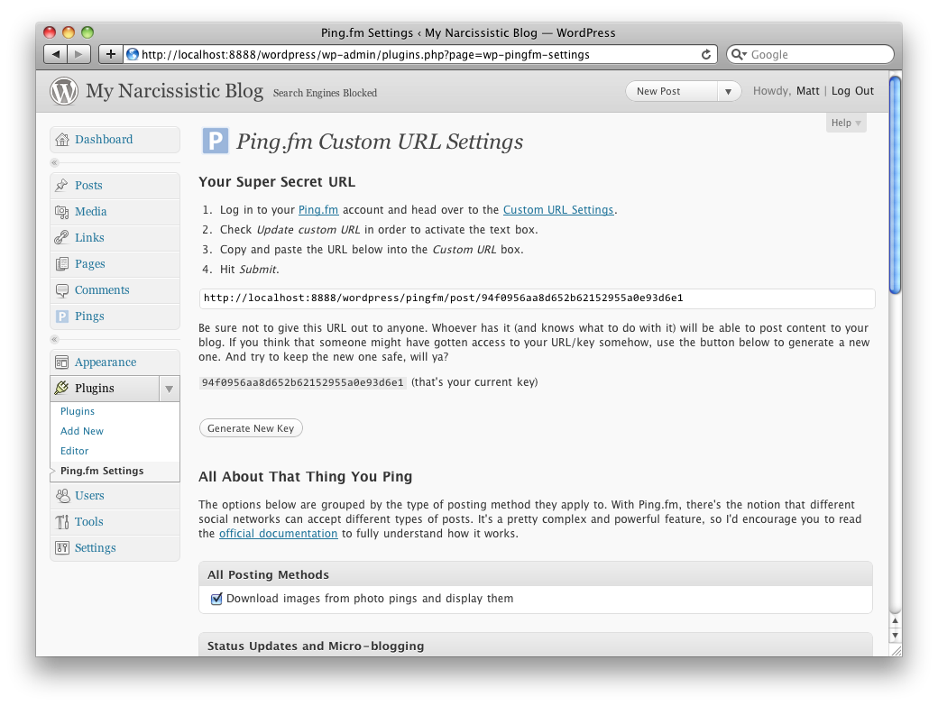 A nicely-designed settings page stands at the ready to accept your input.