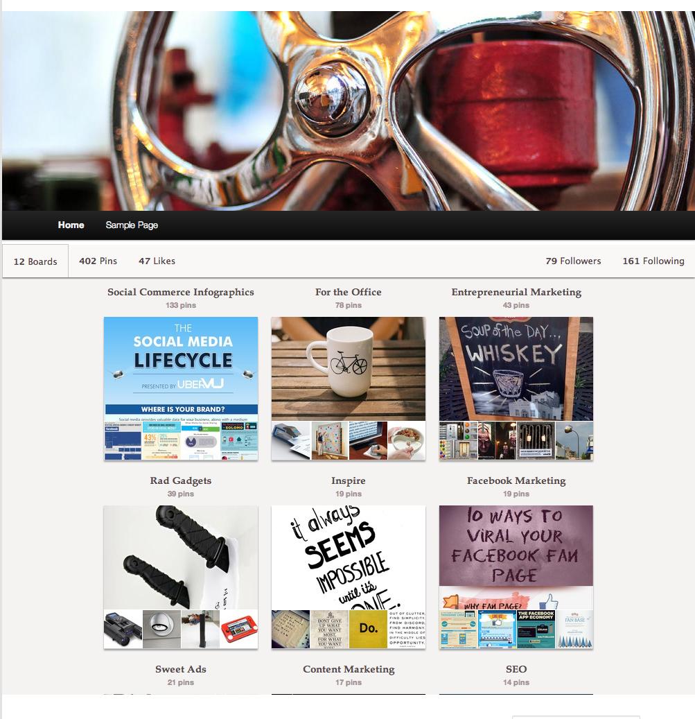 Pinterest on WordPress