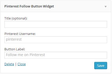Follow button widget settings