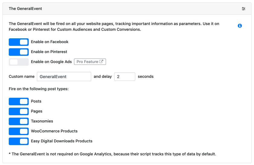 PixelYourSite – Facebook Pixel, Google Analytics, Head
