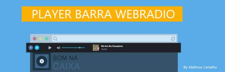 Player Barra WebRadio