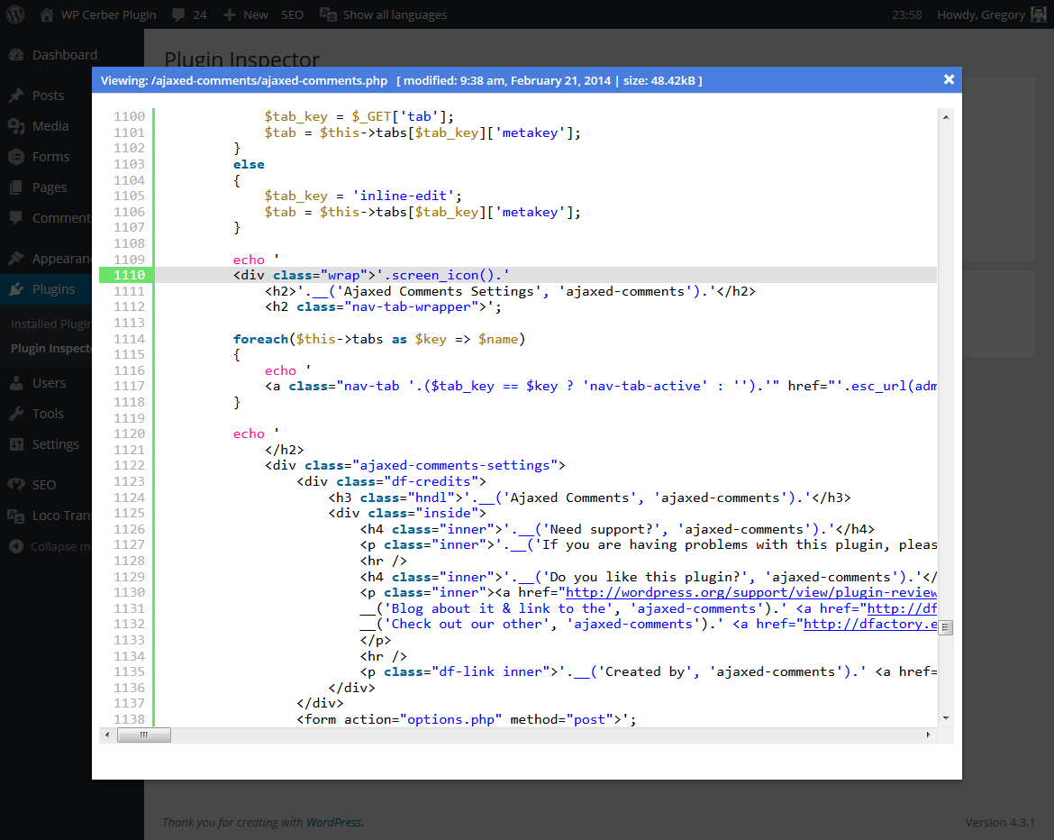 Beautiful source code viewer with highlighted issues
