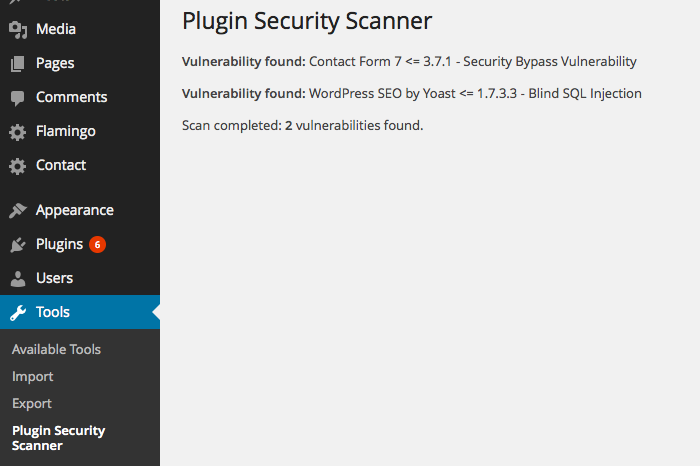 Plugin Security Scanner – WordPress plugin | WordPress org