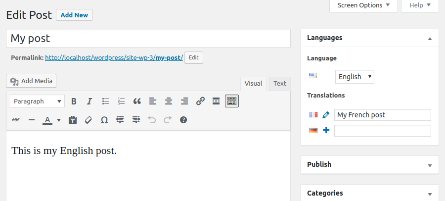 Using Polylang to create a bilingual or multilingual WordPress site