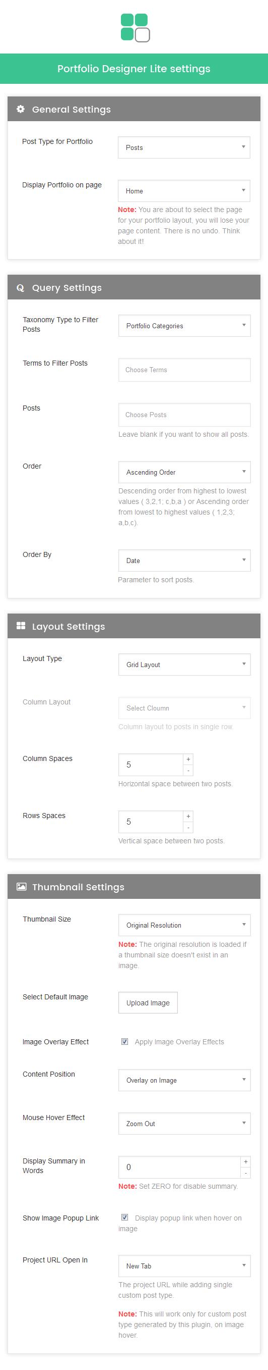 Portfolio Designer Panel - Admin Interface