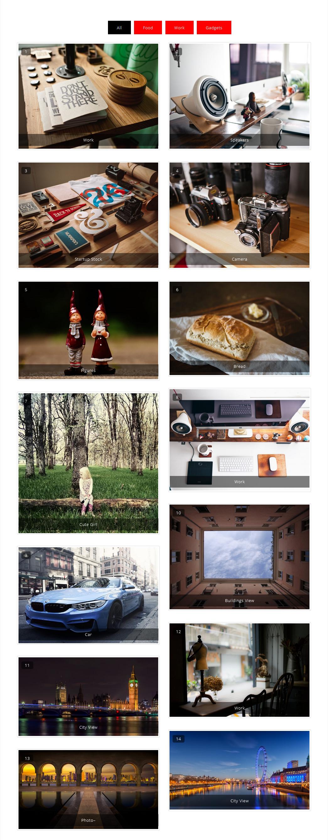 Portfolio Filter Gallery With Masonry