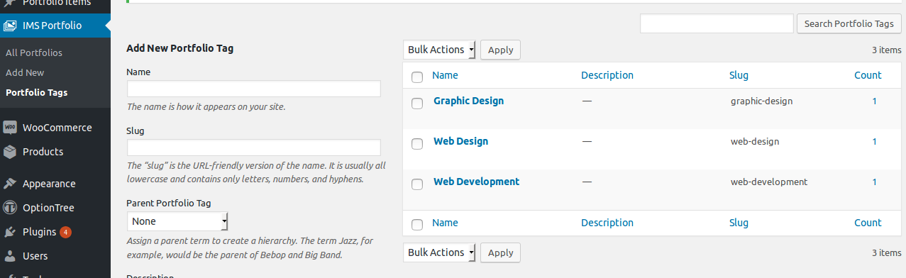 <p><strong>Add/manage tags for portfolio</strong> - Add new tags for portfolio and manage all tags.</p>