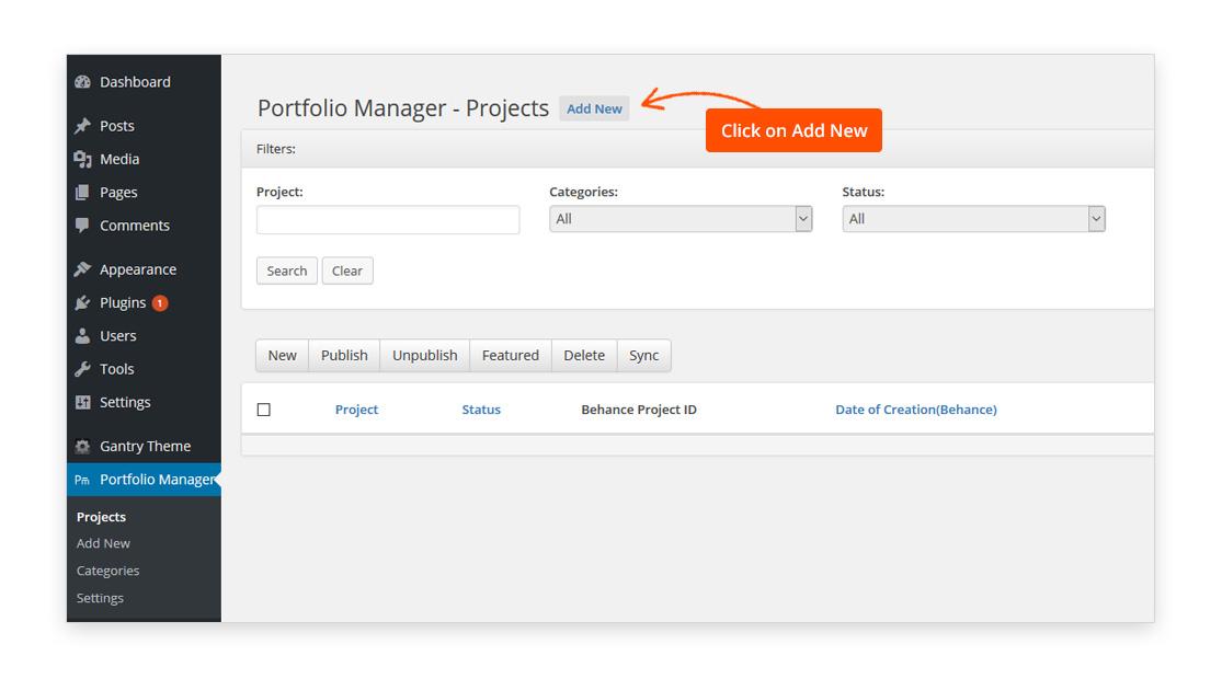 Behance-Wordpress-project-management-plugin