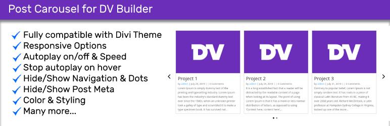 Post Carousel for DV Builder – WordPress plugin | WordPress org