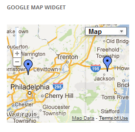 Google Map Widget displaying multiple plots on a map for a given post