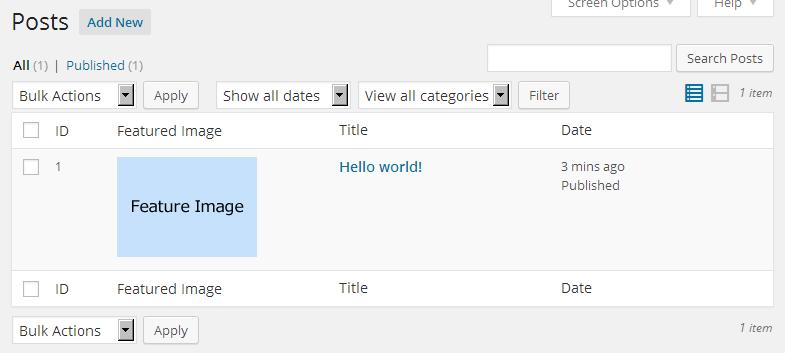 管理画面にあるリストというリストをカスタマイズできるプラグイン「Post Lists View Custom」の画像 Knowledge Base