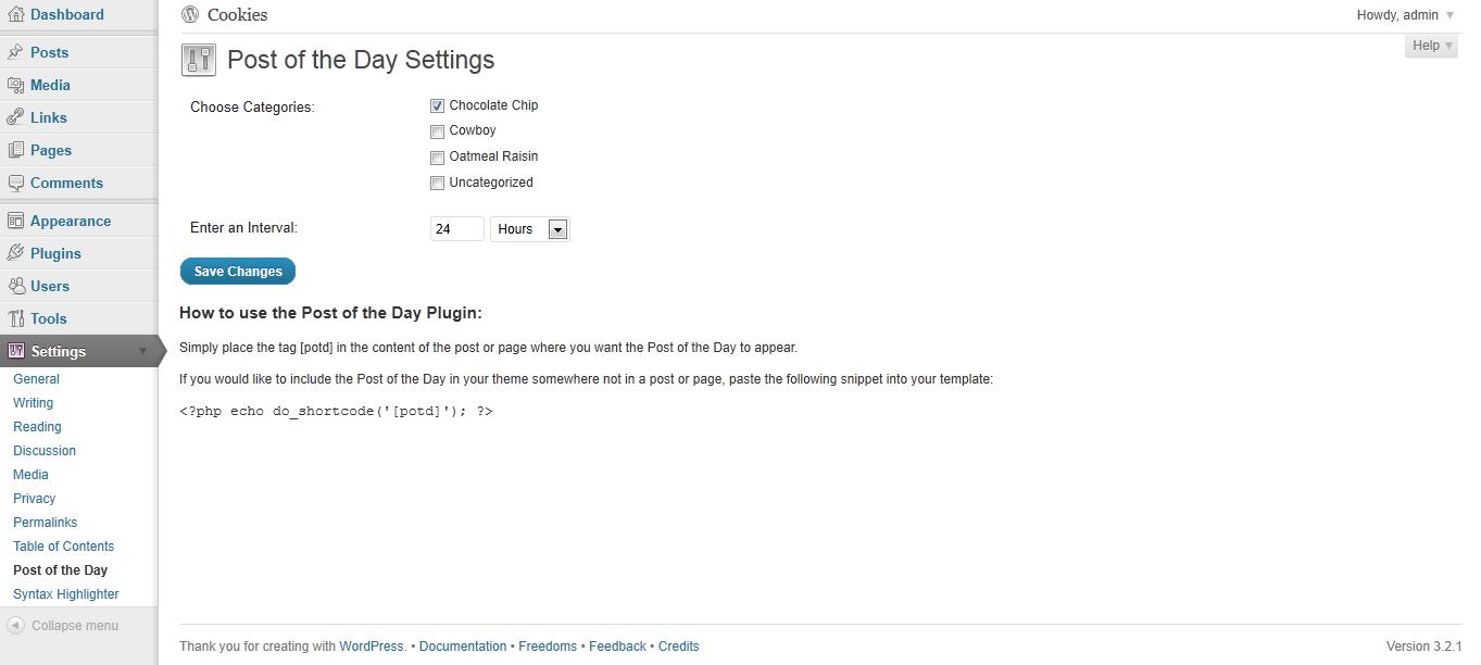 screenshot-1.png: Settings page