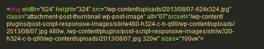 Banner Image SRCSET Code