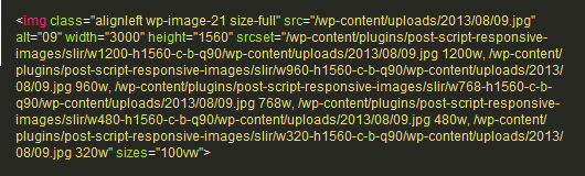 Content Section Image SRCSET Code