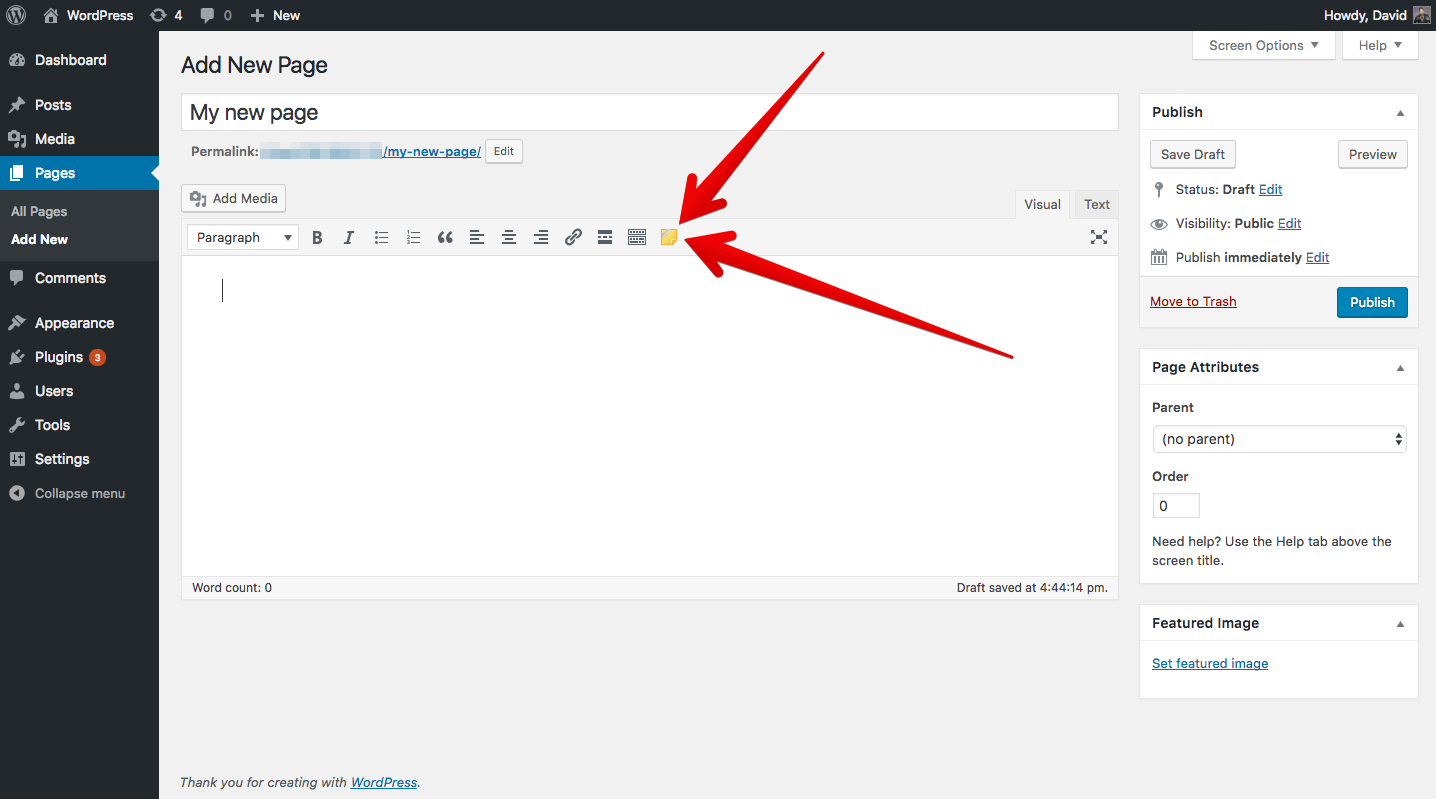 The convenient button for Post Snippets in the WordPress editor.