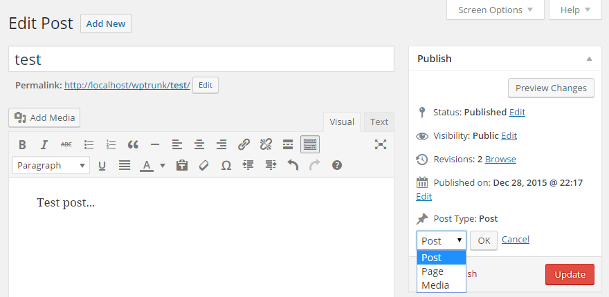 post type switcher plugin, convertir páginas en entradas wordpress