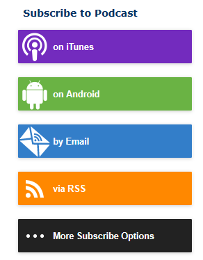 PowerPress comes with a built-in subscribe sidebar widget to help your audience subscribe to your podcast.