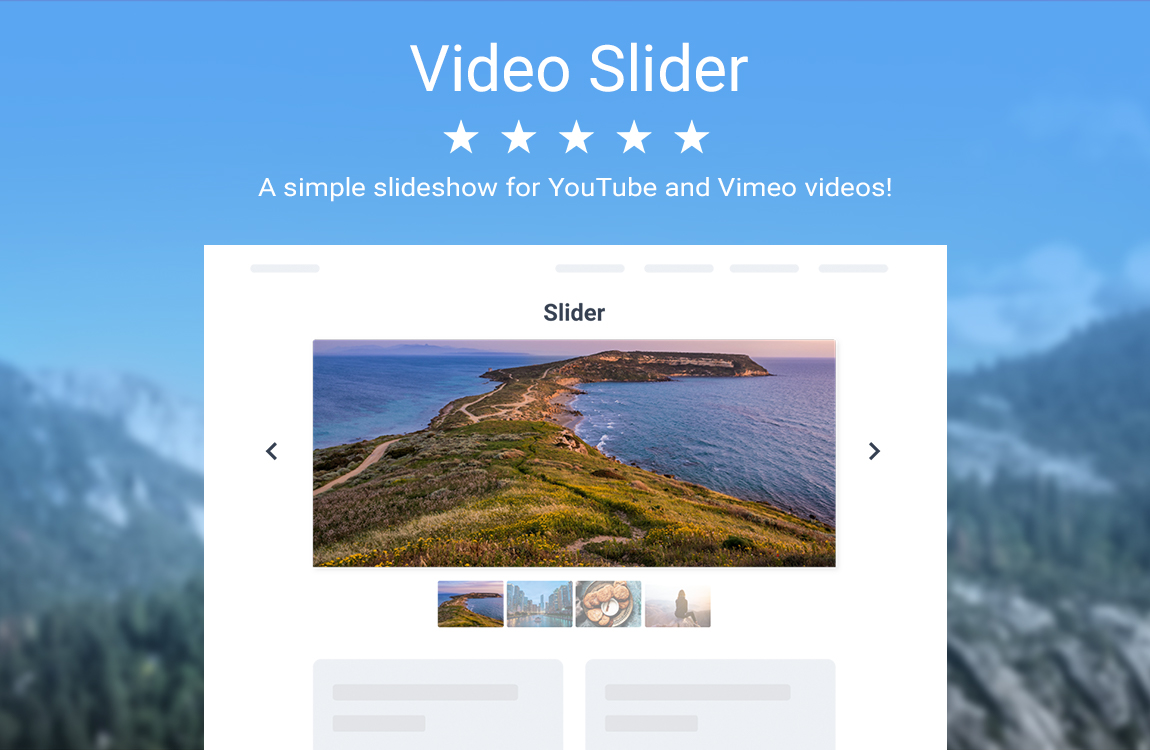 powr-video-slider screenshot 1