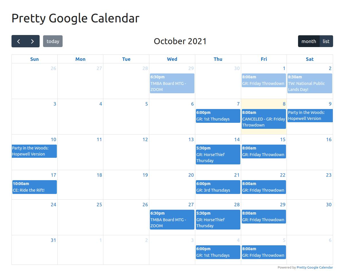 Pretty Google Calendar.
