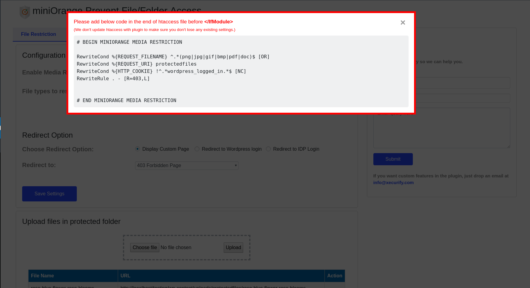 Prevent files / folders access