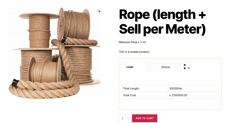 Price Per Unit for WooCommerce Numeric View