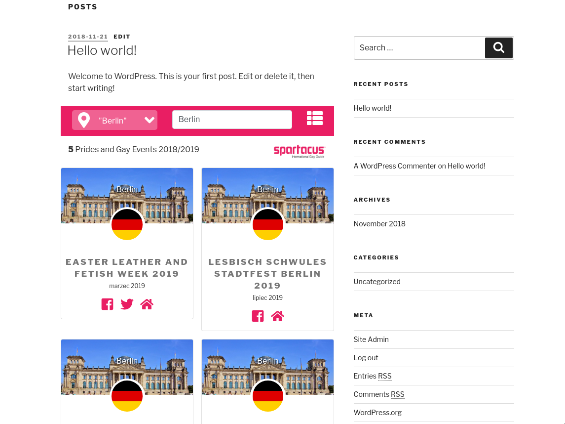 Simple example, searching for 'Berlin'