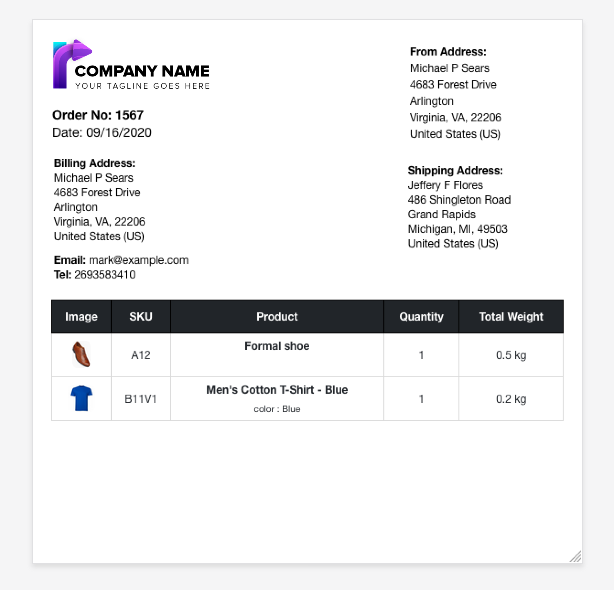 WooCommerce PDF Invoices, Packing Slips, Delivery Notes & Shipping Labels