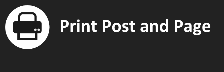 Print Post and Page