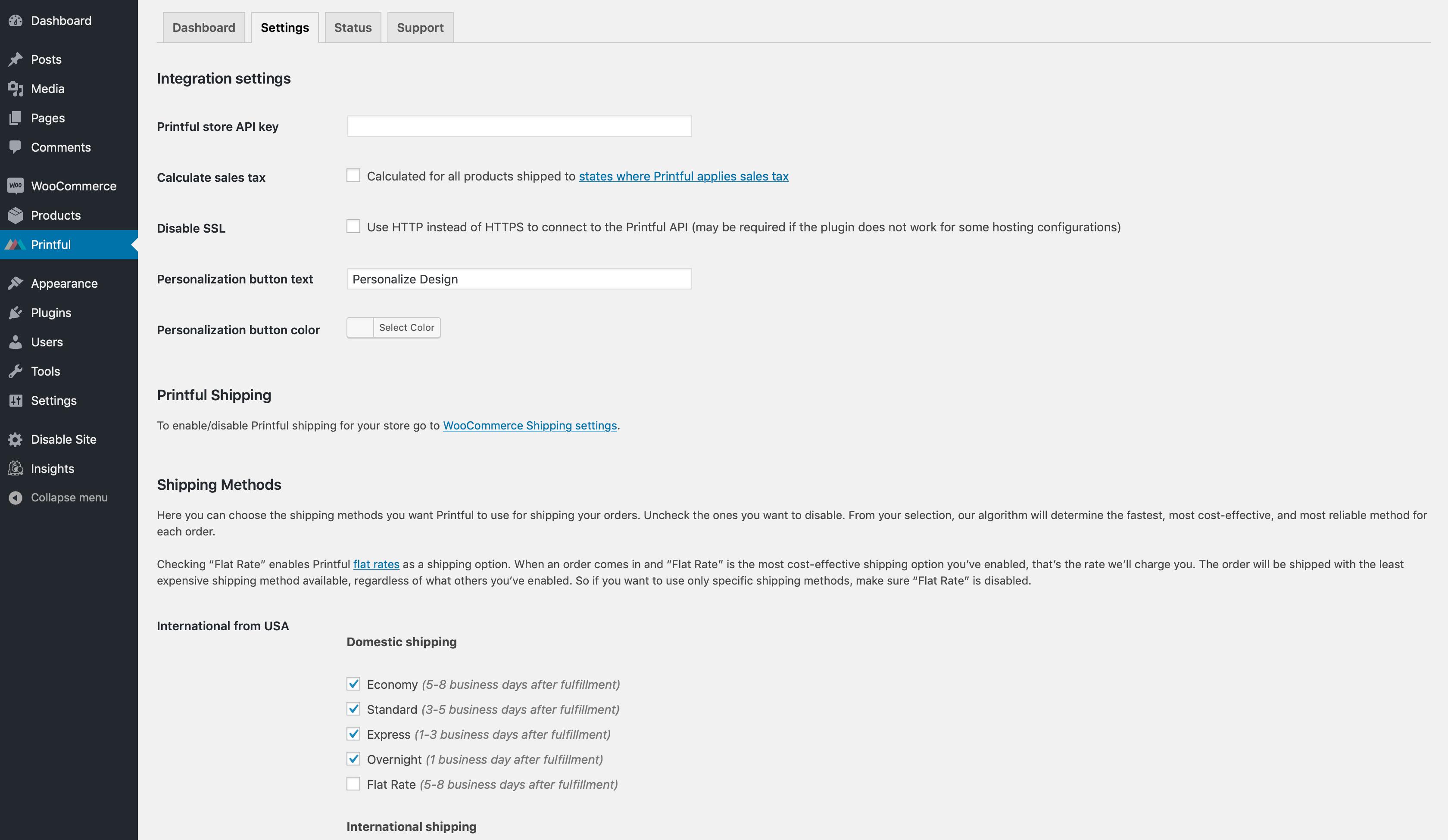 Printful Integration for WooCommerce – WordPress plugin
