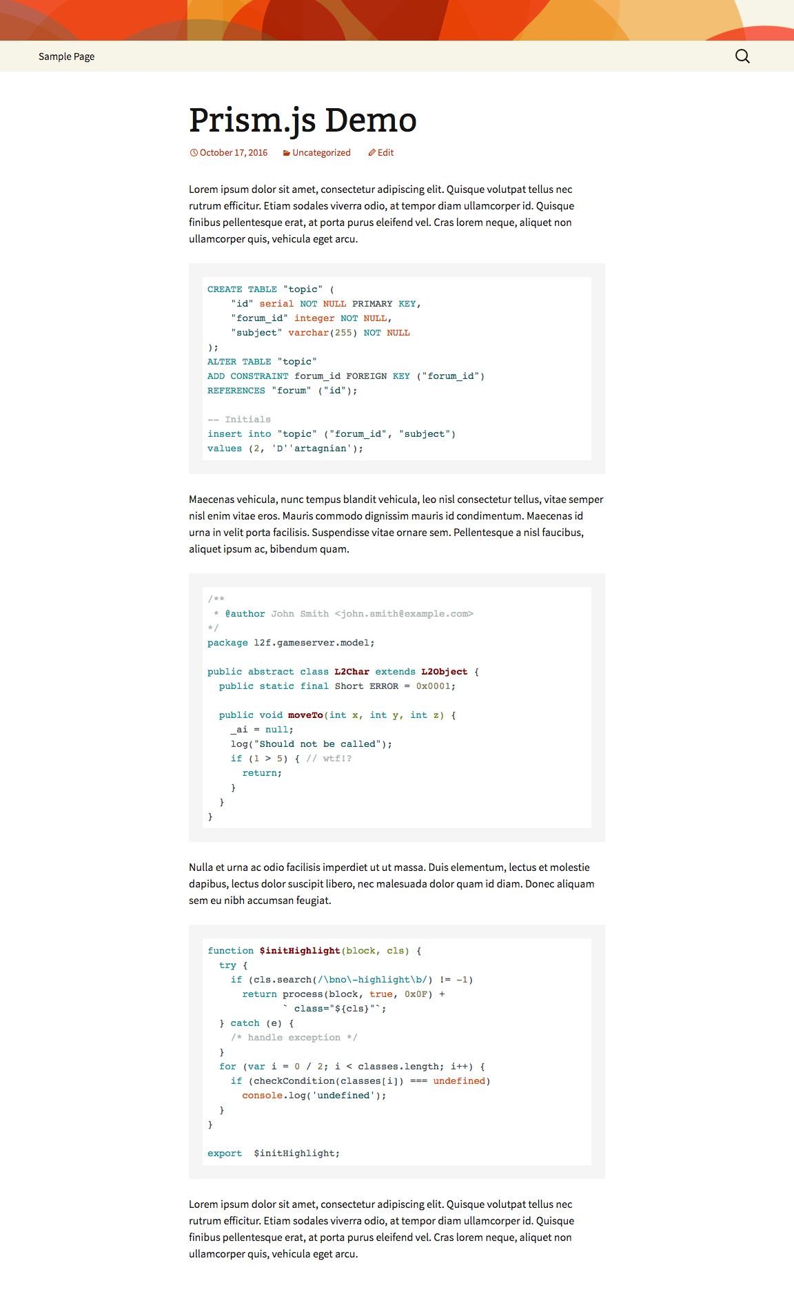 Highlight.js : Arduino Light theme (choose from 77 Highlight.js themes!)