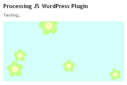 Floating flowers inside a blog post