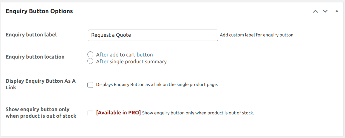 product-enquiry-for-woocommerce screenshot 2