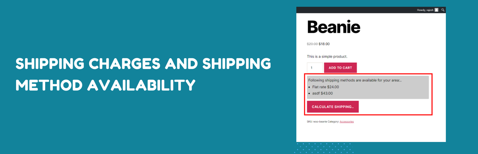 Product page shipping calculator for WooCommerce