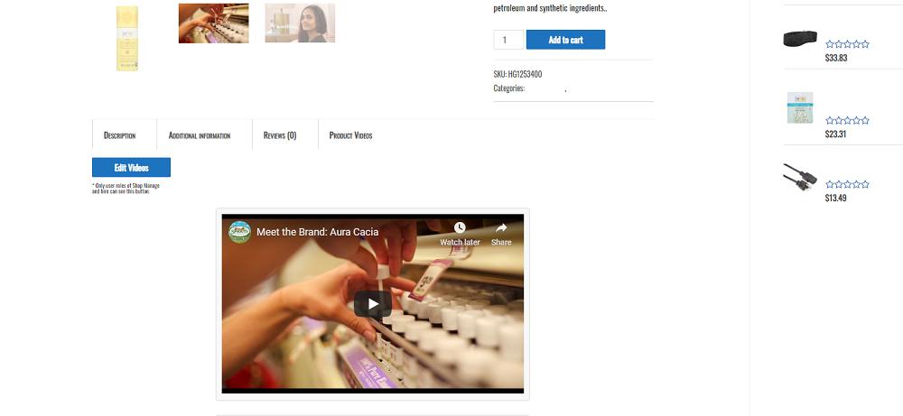 <p>Customizable product video tab.</p>