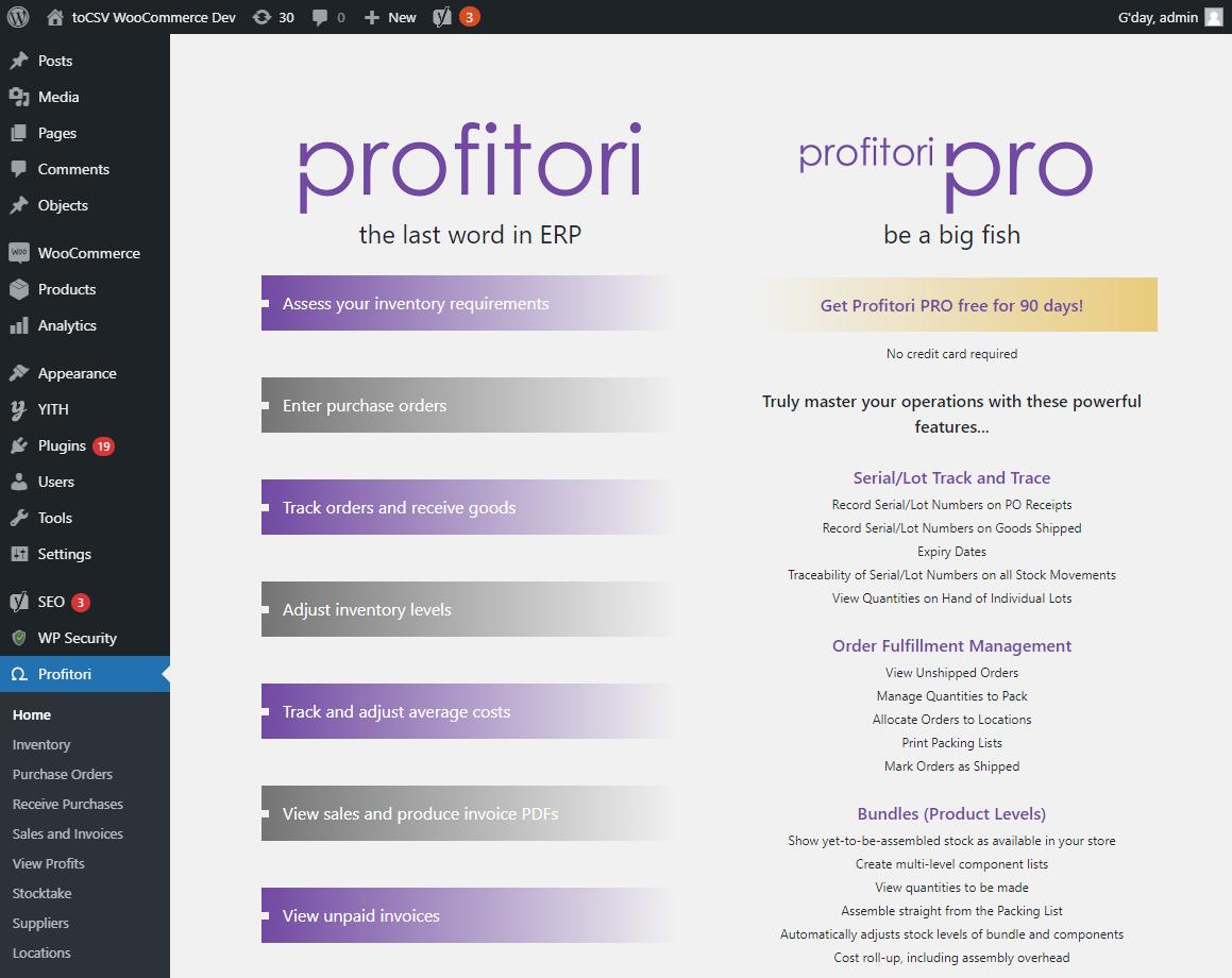 WooCommerce ERP Plugin: Purchase Orders, Stock Management and Profit Margin Tracking – Profitori