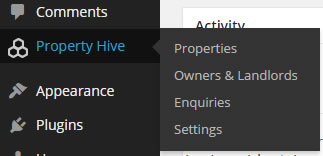 Once activated, all your property related information is maintained within it's own section