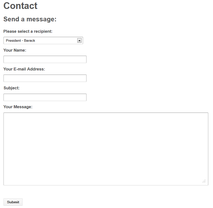 Contact Form - Public Side
