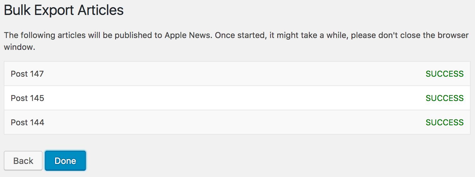 Publish To Apple News – WordPress plugin | WordPress org