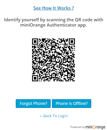 QR Code Authentication Login Screen ( Authenticate your mobile )
