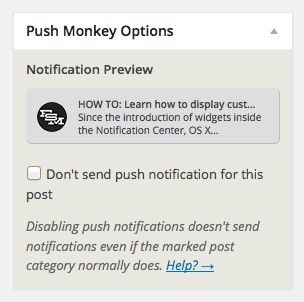 Notification preview while editing a post