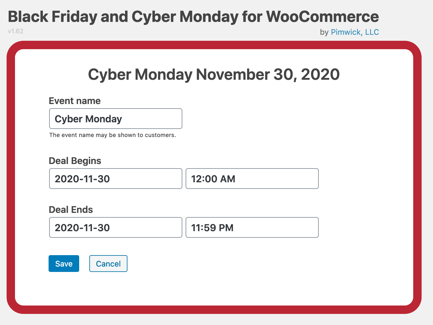 Black Friday And Cyber Monday Deals For Woocommerce Wordpress Plugin Wordpress Org