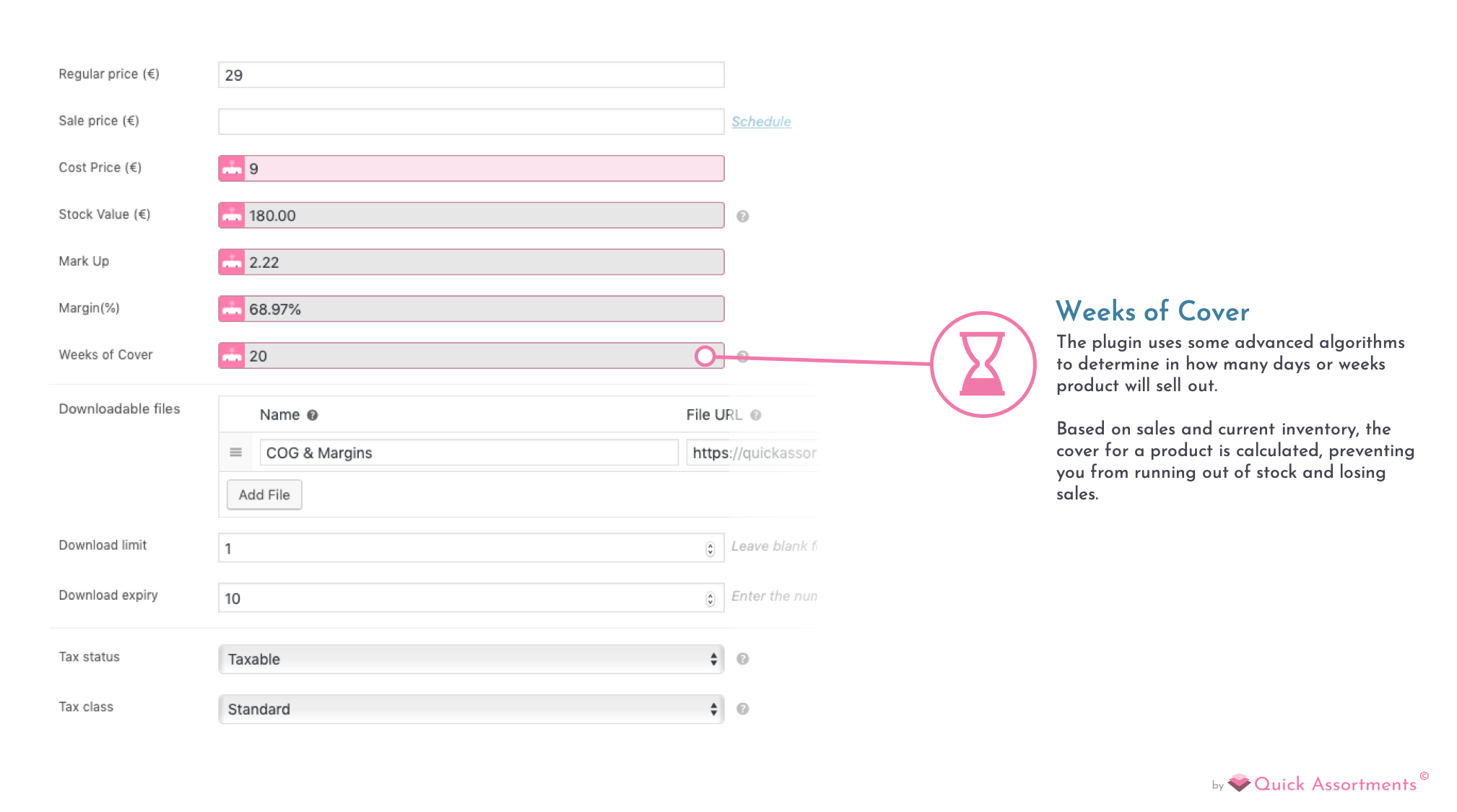 Our plugin is seamlessly integrated with the WooCommerce Product Pages.