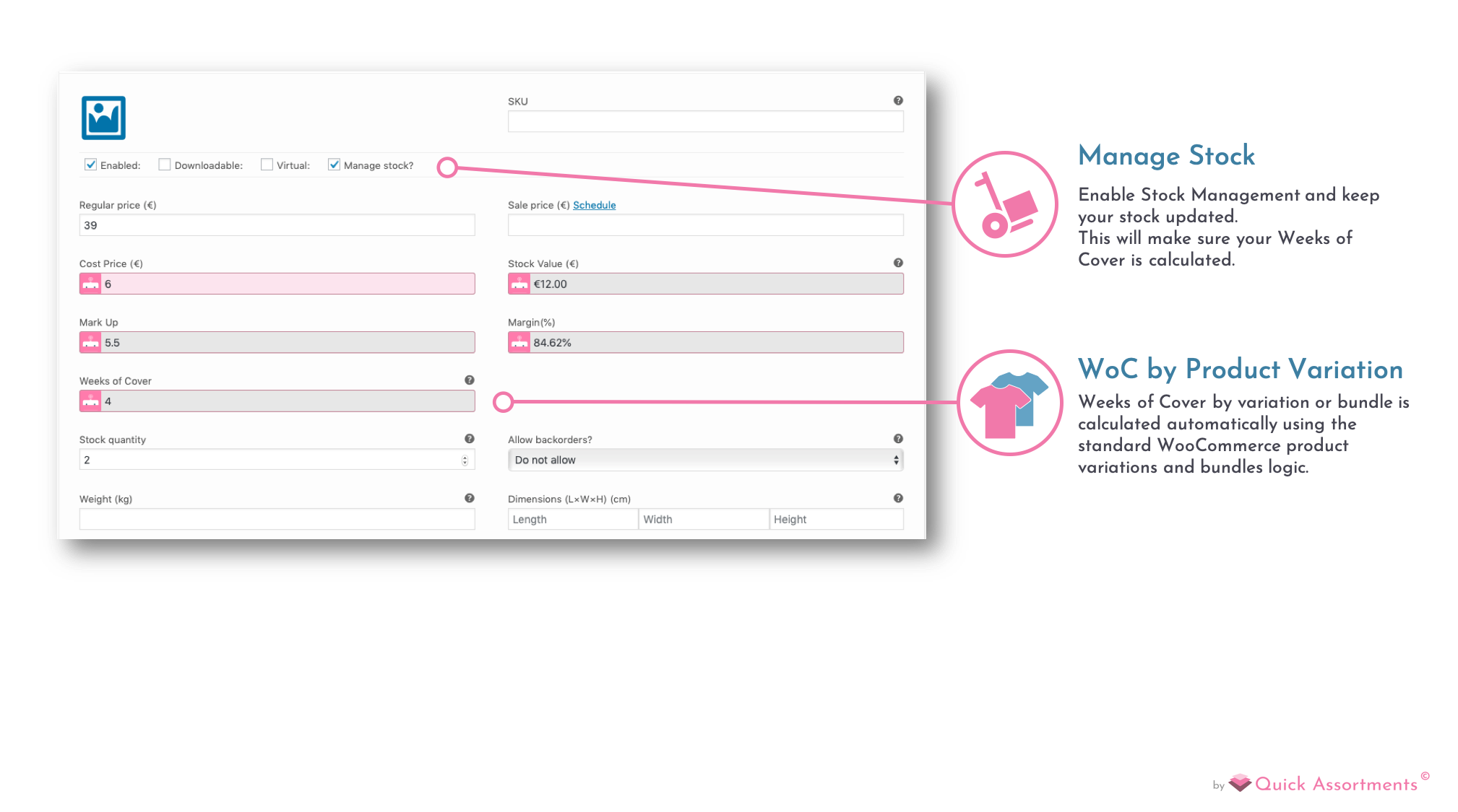 Easily Manage Bundles and Product Variation.