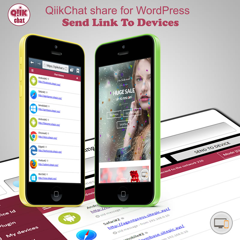 QiikChat on mobile
