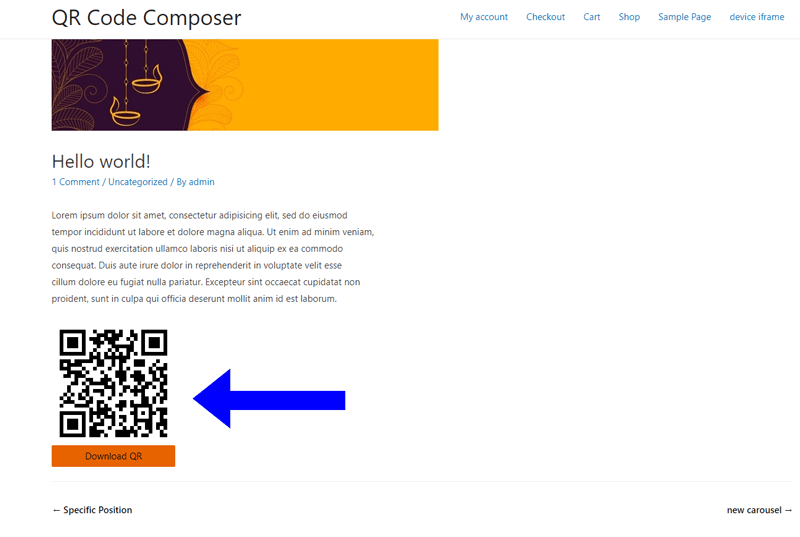 QRs Code Composer Admin Bar Addition in default state (screenshot-1.png)